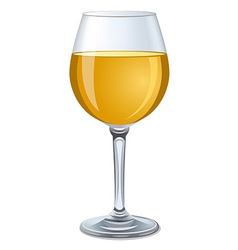 White wine glass vector