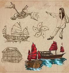 Hong kong pack no2 - travel vector