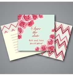 Set of valentines invitation cards vector