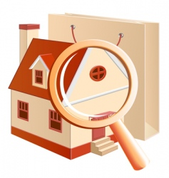 house hunting concept vector image