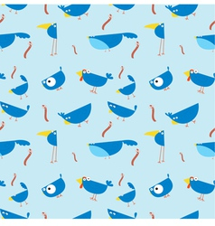 Bluebirds seamless wallpaper vector