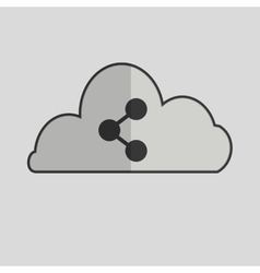 Social media with cloud design vector