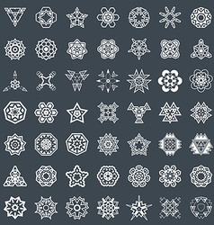 Abstract geometric elements pattern ethnic aztec vector