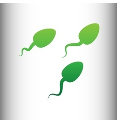 Sperms sign green gradient icon vector