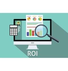Roi return on investment vector