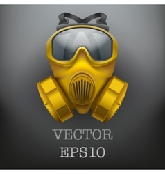 Background of safe chemical antiviral gas mask vector