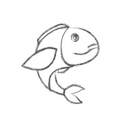 Blurred sketch silhouette of bass fish vector