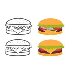 Burgers set vector image