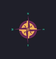 Compass computer symbol vector image