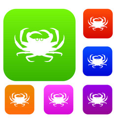 Crab set collection vector
