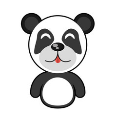 cute panda animal character funny vector image vector image