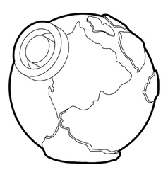 Earth icon outline style vector image vector image