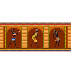Ethnic dance african people vector image
