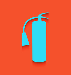 Fire extinguisher sign whitish icon on vector
