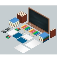 Flat style design concept of creative office vector image