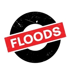 Floods rubber stamp vector