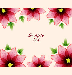 Flower card sample text vector