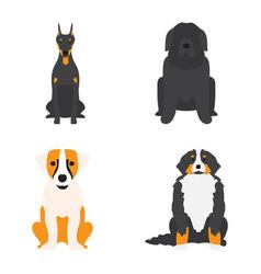 Funny cartoon dog character bread cartoon puppy vector