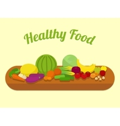 Healthy food cartoon vector image vector image