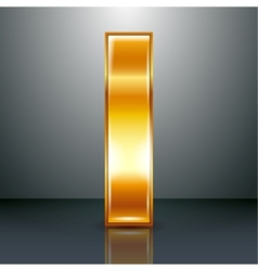 Letter metal gold ribbon - I vector image vector image