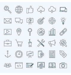 Line seo icons vector