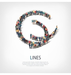 lines people sign 3d vector image