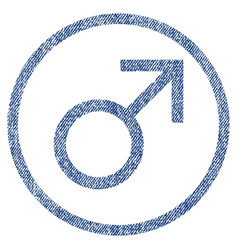 Mars male symbol rounded fabric textured icon vector