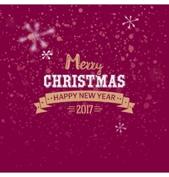 Merry christmas golden typography vector