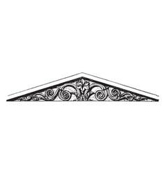 Pediment foot vintage engraving vector