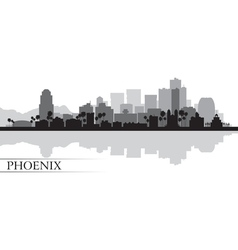 Phoenix city skyline silhouette background vector image