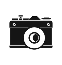 Retro camera icon simple style vector image