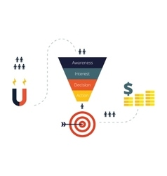 Sales Funnel Infographics Flat vector image