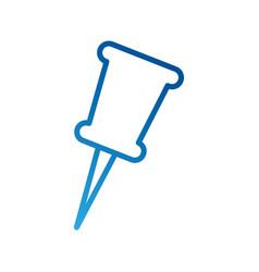 School push pin thumbtack side view tool vector