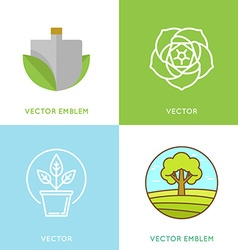 Set of logo design templates - gardening concepts vector