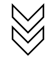 Shift down contour icon vector