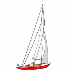 Small sailboat vector