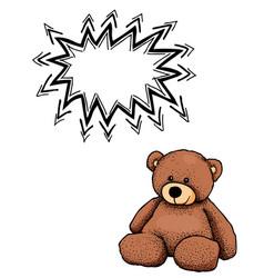 Teddy bear-100 vector