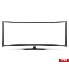 Template of big curved widescreen led or lcd tv vector image vector image