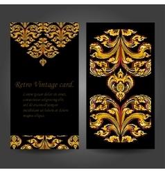 Thai floral decorative ornament vector