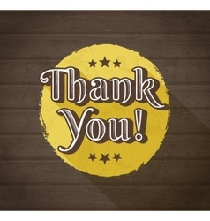 Thank you typographic design vector image vector image