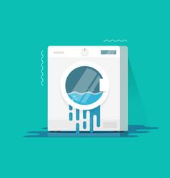 Washing machine broken flat vector