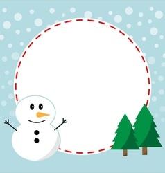 Winter christmas frame vector image