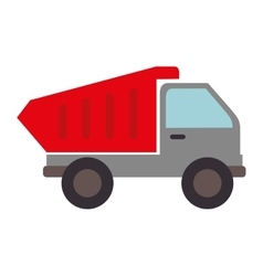 dump truck construction icon graphic vector image