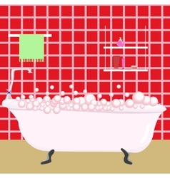 Red bathroom vector