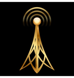 gold antenna vector image