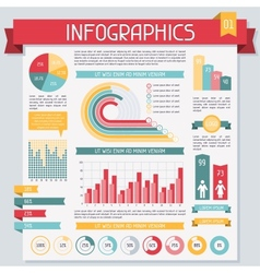 Infographics elements collection set 1 vector