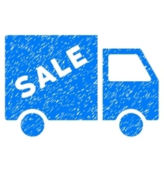Sale van grainy texture icon vector