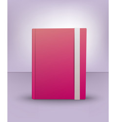Realistic 3d pink book diary notebook art vector