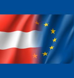 Symbol austria is eu member vector