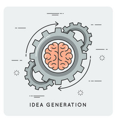 Idea generation linear flat style concept vector